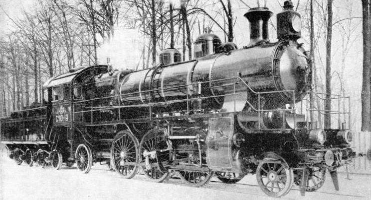 a standard 2-6-2 express locomotive, built for the Russian 5 ft gauge
