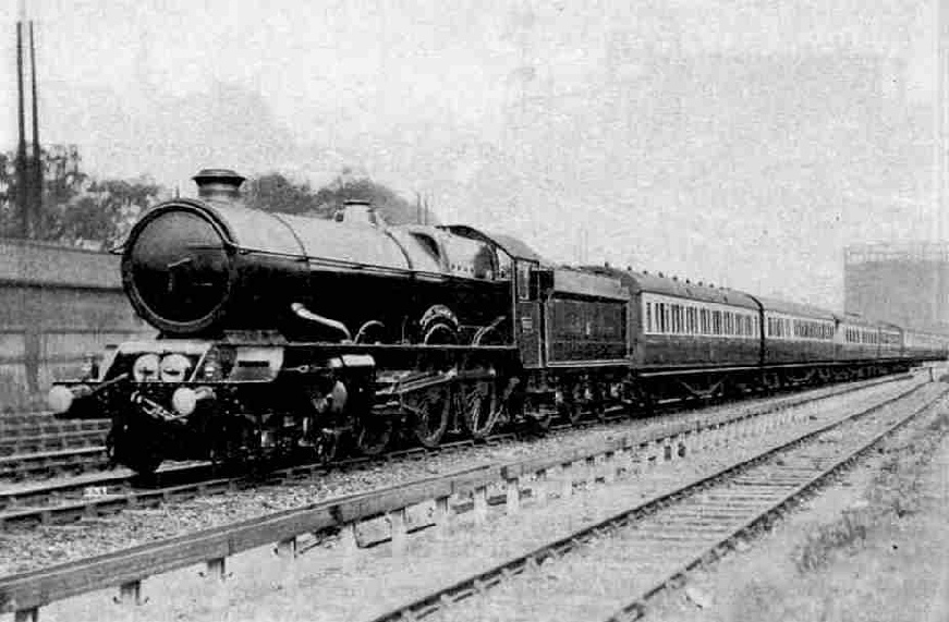 King Class 4-6-0 locomotive, No. 6007, King William III passing West London Junction