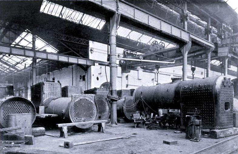 LOCOMOTIVE BOILERS AT ST. ROLLOX WORKS, Caledonian Railway