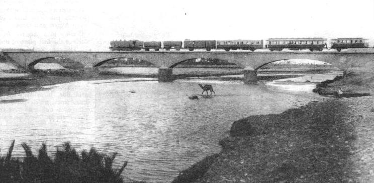 THE TENSIFT BRIDGE which carries the line of the Moroccan Railways