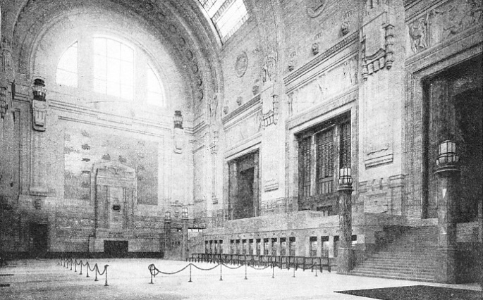 THE BOOKING HALL of Milan Central Station