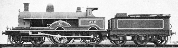 Four-cylinder compound locomotive of the LNWR