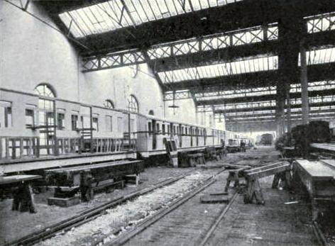 CARRIAGE-BUILDING, ST. ROLLOX WORKS, Caledonian Railway