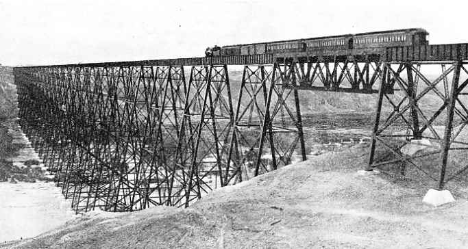 LETHBRIDGE VIADUCT, spanning the Belly River in Alberta