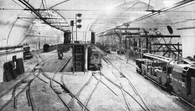 The car depot at Mount Pleasant, Post Office Railway