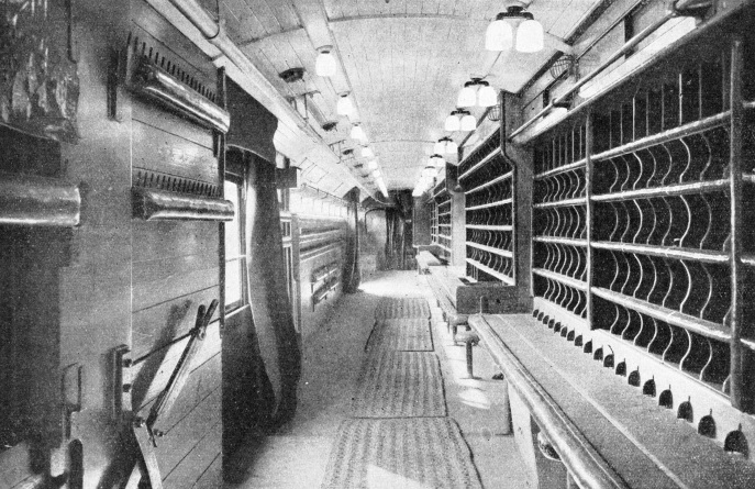 Inside a Post Office railway sorting office