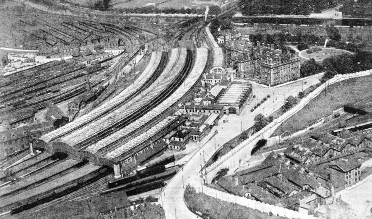An aerial view of York Station