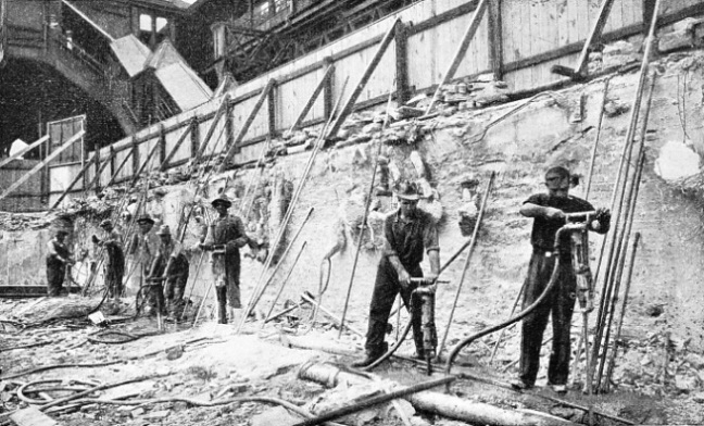 JACKHAMMERS AT WORK on a New York station extension