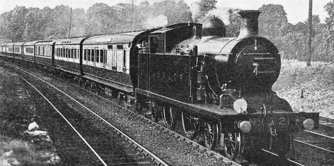 "The ""Sunney South Express"" shortly after leaving Willesden Junction"