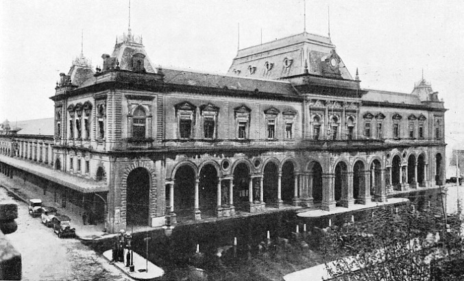 THE CENTRAL STATION AT MONTEVIDEO, owned by the Central Uruguay Railway