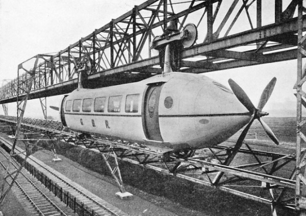 A railplane on a stretch of track over the LNER line at Milngavie, Dumbarton