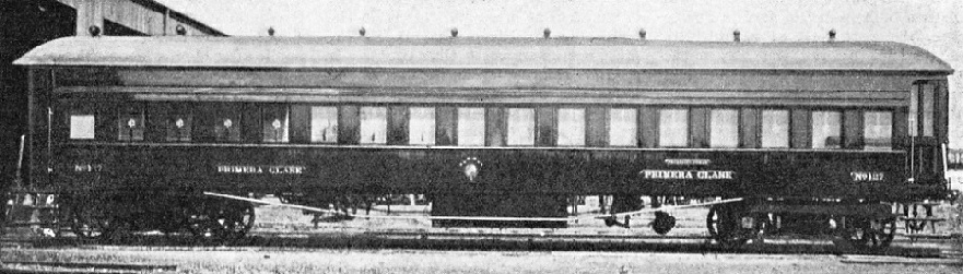 FIRST-CLASS CARRIAGE owned by the Central Uruguay Railway
