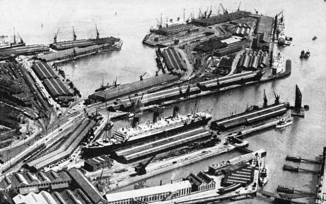 the Southern Railway's docks at Southampton