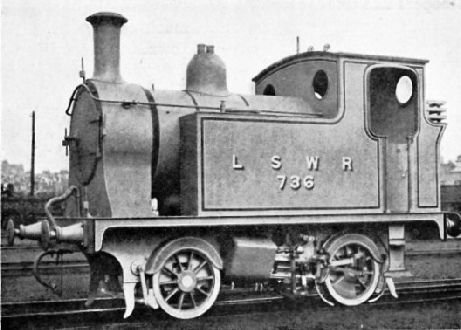 Locomotive No 736 London & South Western Railway
