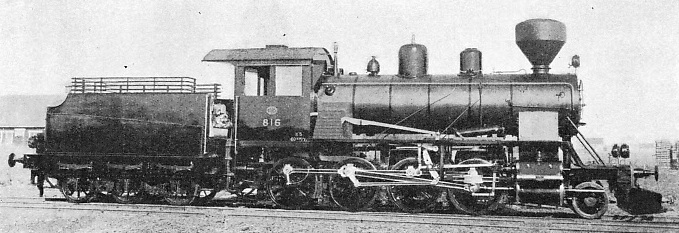 The 2-8-0 engine above is one of Class K5 built at Tampere, Finland, in 1928