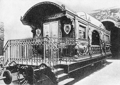 The Pope's private railway coach