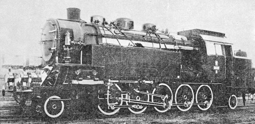 A 2-10-2 passenger tank locomotive of the Polish State Railways
