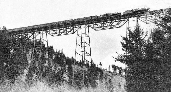 "THE ""NORTH COAST LIMITED"", a transcontinental express, crossing the Marent Viaduct"