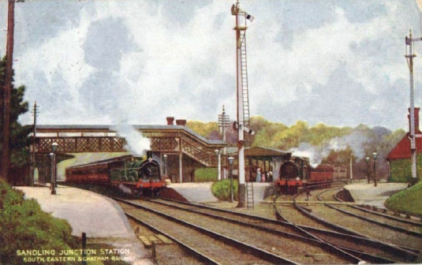Sandling Junction, South Eastern & Chatham Railway