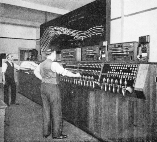 Interior of the power signalling box, Manchester Central Station