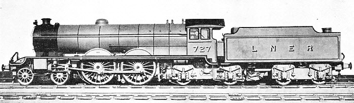 "A FORMER ""ATLANTIC"" TYPE express engine of the North Eastern Railway, as rebuilt by the LNER"