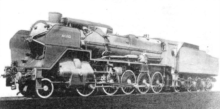 2-10-0 FREIGHT LOCOMOTIVE recently introduced on the Northern Railway of France