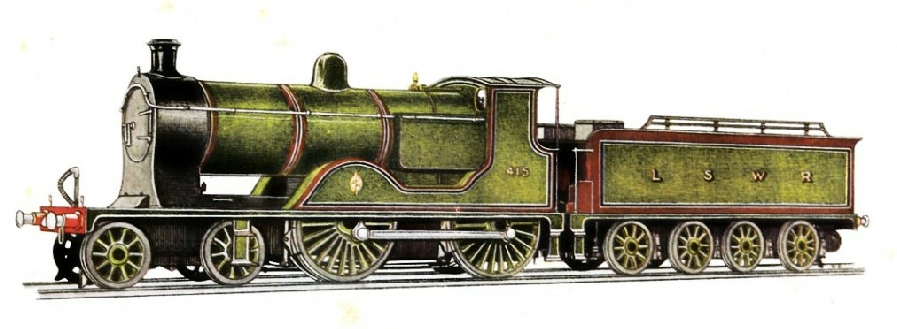 LONDON & SOUTH WESTERN RAILWAY EXPRESS PASSENGER LOCOMOTIVE