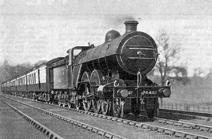A recent photograph of the up Queen of Scots near Hadley Wood