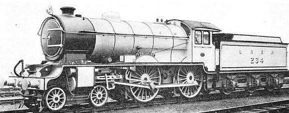"A ""SHIRE"" CLASS LNER three-cylinder express locomotive"